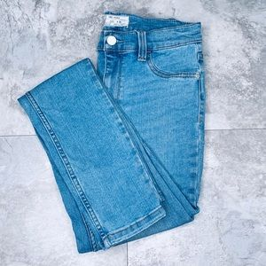 Free People High Rise Skinny Jeans Light Wash